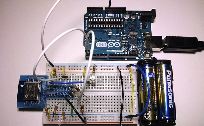 ArduinoでUSBシリアル変換してESP-WROOM-02に書き込む