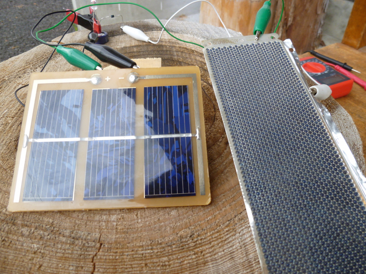 ソーラーパネル安定電源実験