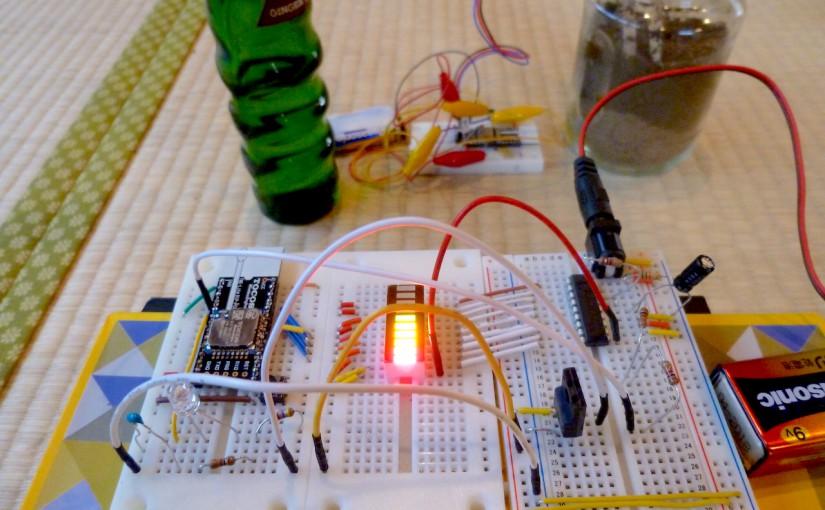 IoTハウスガジェット #3 土壌湿度リモートセンサ