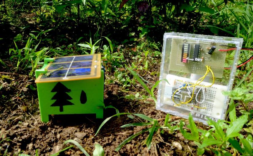 土壌湿度リモートセンサのディスプレイが完成。これにて一件落着。