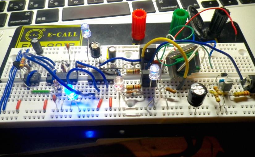 ハーフブリッジドライバ回路の実験