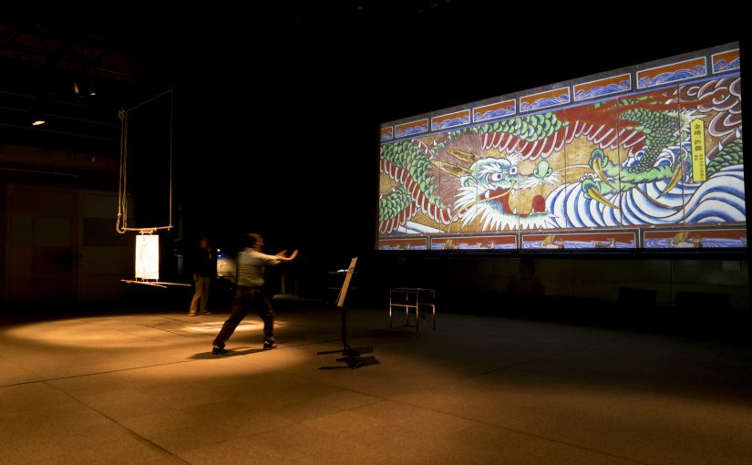 5/6 文化の森21世紀館でデジタル襖カラクリの公演をしてきました